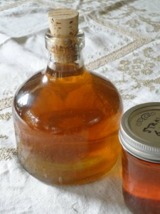 The finished liqueur ready for 5-6 months of aging.