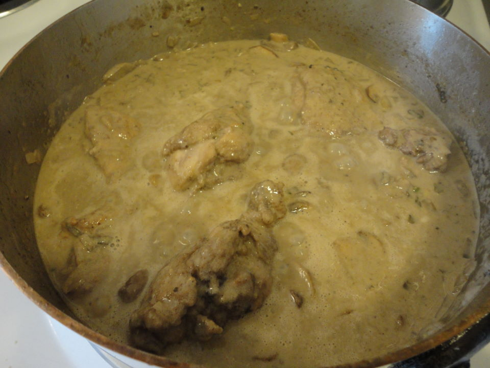 Chicken Fricasse With Mushrooms And Creme Fraiche Jim Drohman