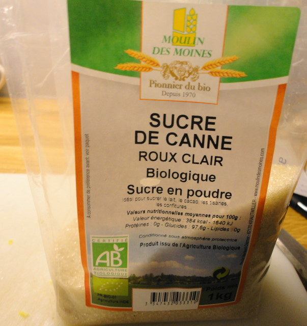 "Organic sugar...it gives off a lot of foam during boiling but the flavor is good, less ""hot"" than regular white sugar."