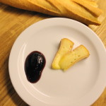 The finished jam, served with cheese from Ferme Lait Petit Bearnais.