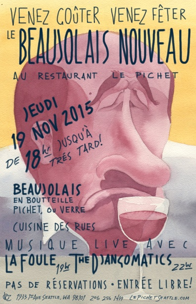 Beaujolais Nouveau 2015 Yellow Small