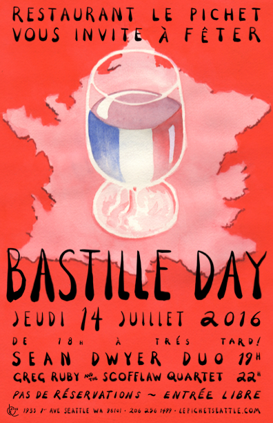 Bastille Day 2016 at Le Pichet